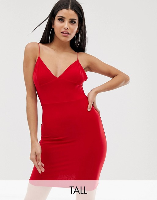 Fashionkilla Tall mini cami dress in red