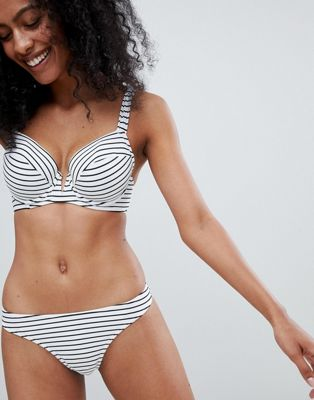Figleaves Cast Away bikini bottom in stripe