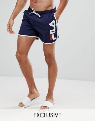 Fila Black Line Runner - Short de bain à logo - Bleu marine