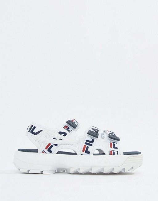 Fila - Disruptor - Sandali bianchi con cinturini e logo