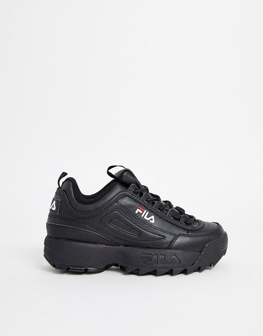 Fila – Disruptor – Schwarze Sneaker