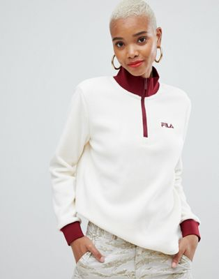 Fila half zip sweatshirt in polar fleece