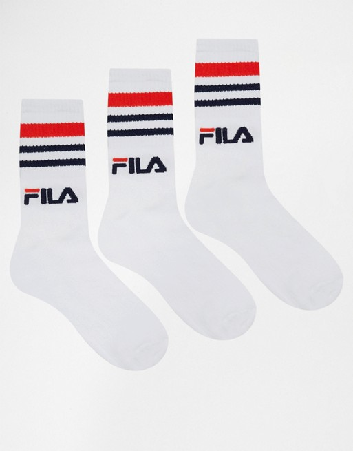 Chaussettes de baskets fila lot de 3
