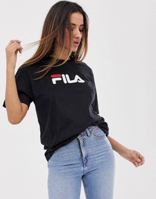 Fila – Oversize-Boyfriend-T-Shirt mit Logo auf der Brust