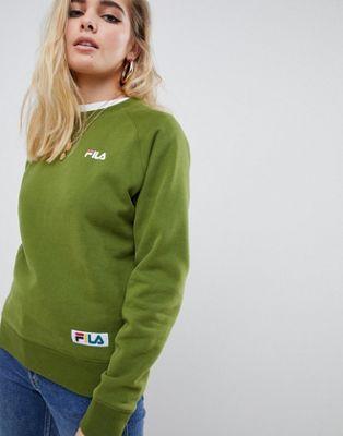 Fila - Ruimvallend boyfriend sweatshirt met geweven logo op de borst