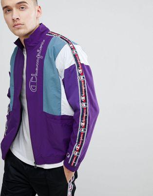 Фиолетовая спортивная куртка с отделкой кантом Champion