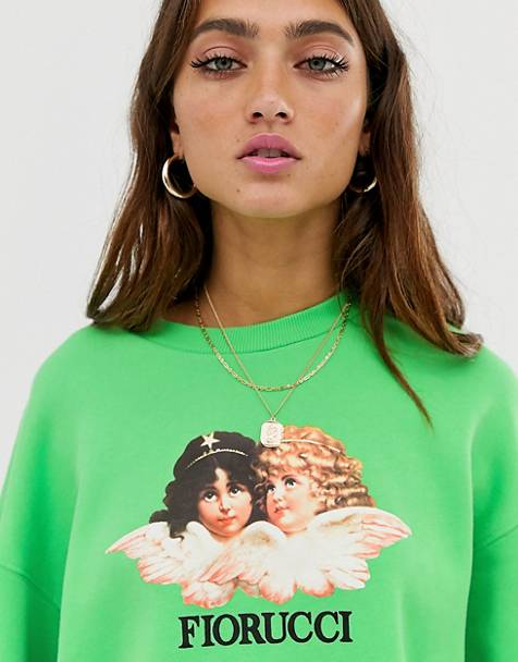 Fiorucci vintage angels sweatshirt in green