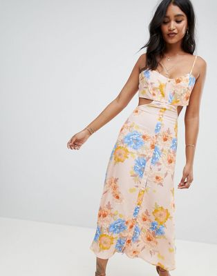 Flynn Skye bloom cut out midi dress