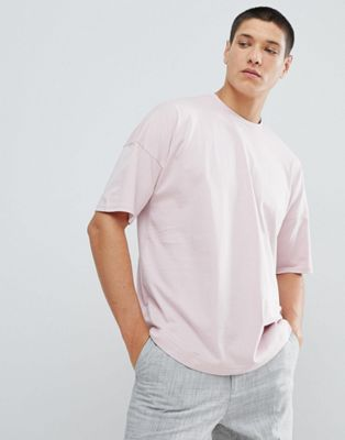 FoR Dropped Shoulder T-Shirt In Pink