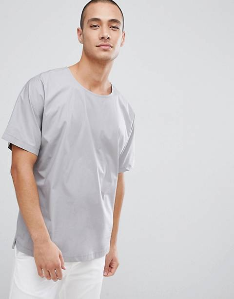 FoR – Gewebtes T-Shirt in Grau
