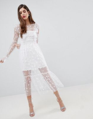 For Love and Lemons - Robe mi-longue en tulle