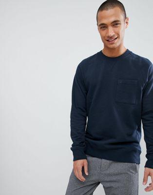 FoR – Marinblå sweatshirt med detalj