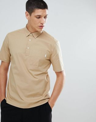 FoR Regular Fit Shirt With Pocket In Stone