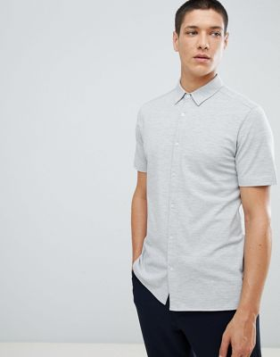 FoR Short Sleeve Jersey Shirt In Grey