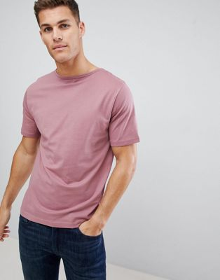 FoR T-Shirt With Boat Neck In Pink