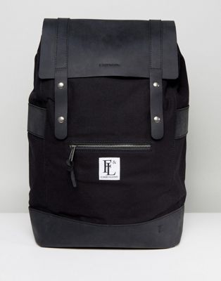Forbes & Lewis Leather Rider Backpack In Black