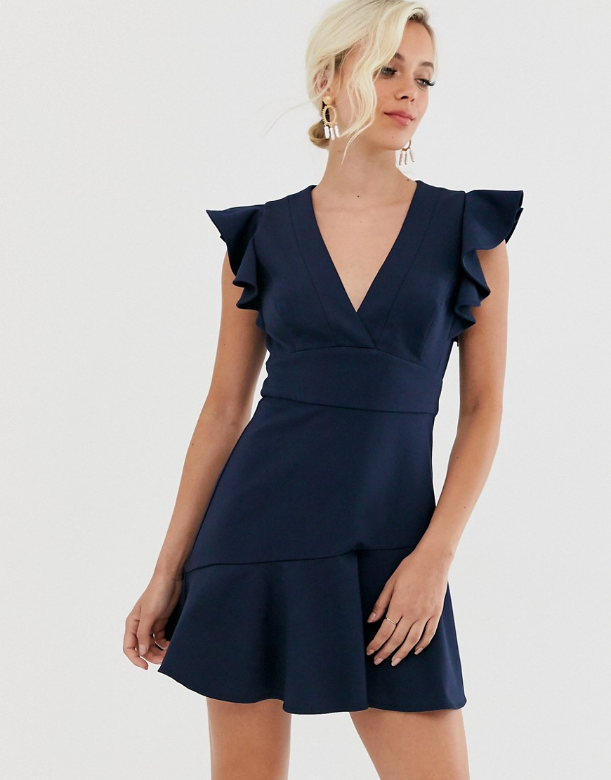 forever new peplum dress in navy