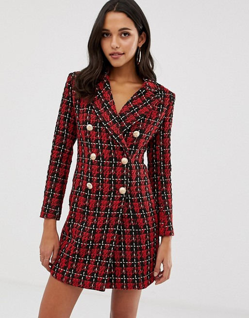 Image 1 of Forever Unique tweed blazer dress