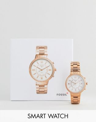 Fossil Q FTW5010 Virginia Bracelet Hybrid Smart Watch In Rose Gold 36mm