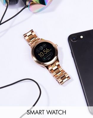 Fossil Q FTW6000 Venture Bracelet Smart Watch In Rose Gold