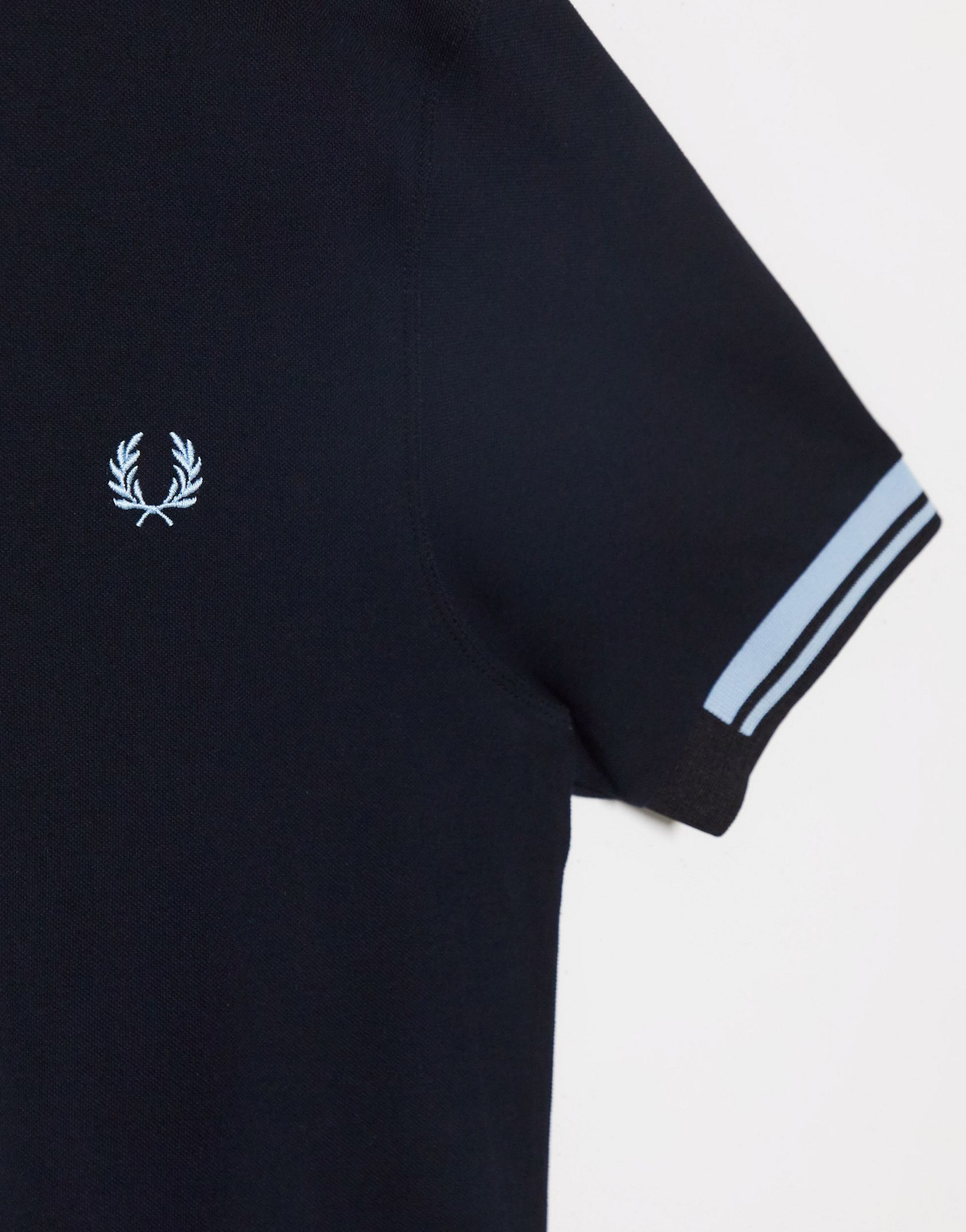 Fred Perry abstract tipped polo in black -  Price Checker