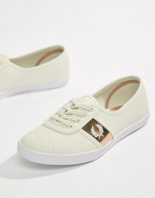 Fred Perry Aubrey Leather Plimsoll Trainers