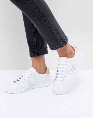Fred Perry B721 Lace Up Trainer with Perforated Detail