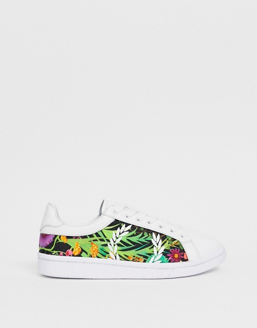 Immagine 1 di Fred Perry - B721 - Sneakers in pelle stampa liberty