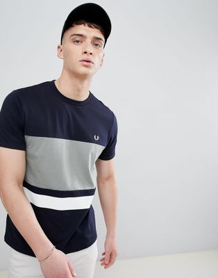 Fred Perry color block t-shirt in navy