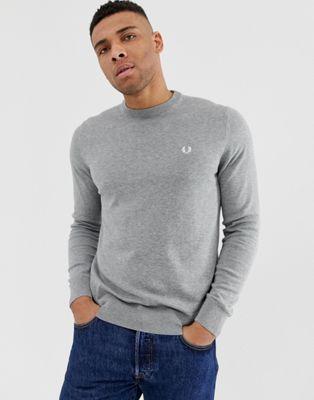 Bild 1 av Fred Perry – Grå tröja med rund halsringning