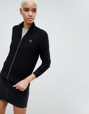 Fred Perry Houndstooth Knitted Jacket