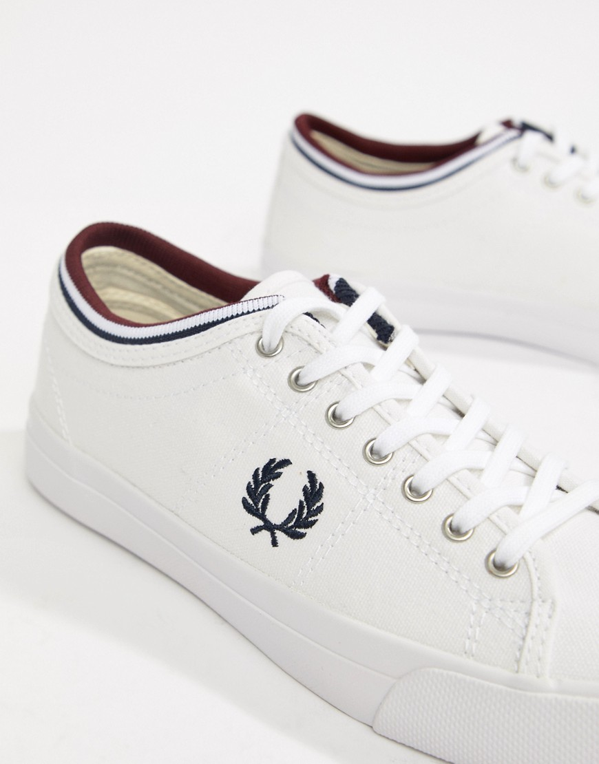 Fred Perry Kendrick Canvas Trainer With Tipped Cuff by Fred Perry