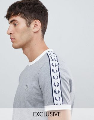Fred Perry Sports Authentic taped ringer t-shirt in gray
