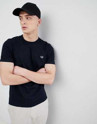 Fred Perry tipped cuff t-shirt in navy