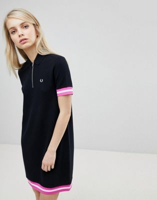 Fred Perry Tipped Pique Polo Dress
