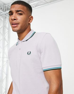 Fred Perry abstract tipped polo in black - ASOS Price Checker