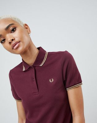 Fred Perry Twin Tipped Polo Shirt with Metallic Trim