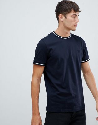 Fred Perry twin tipped t-shirt in dark navy