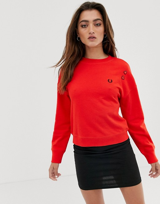 Fred Perry x Amy Winehouse foundation heart detail sweatshirt