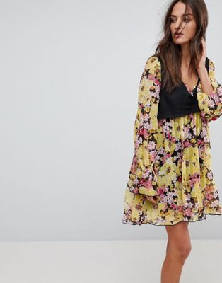 Free People Alice Vested Print Dress