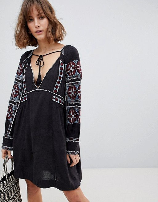 Image 1 of Free People All My Life embroidered shift dress