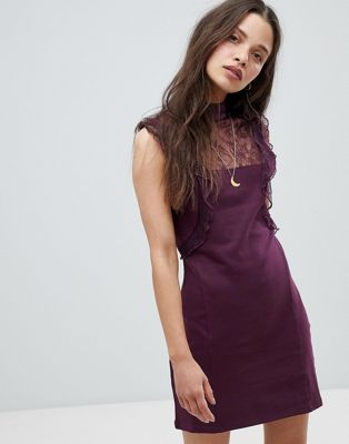 Free People Beaumont Muse Lace Detail Dress