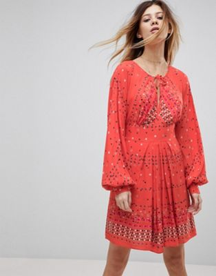 Free People Coryn Printed Skater Dress