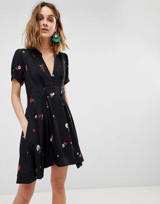Free People Dream Girl Printed Dress