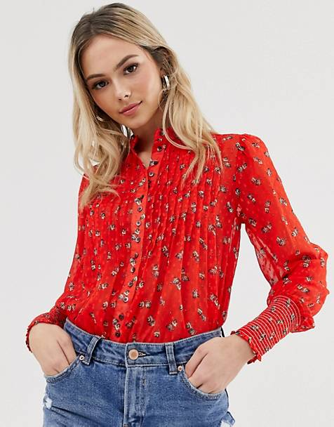 Free People flowers in december floral blouse
