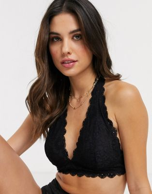 Free People Galloon Lace Halterneck Bra