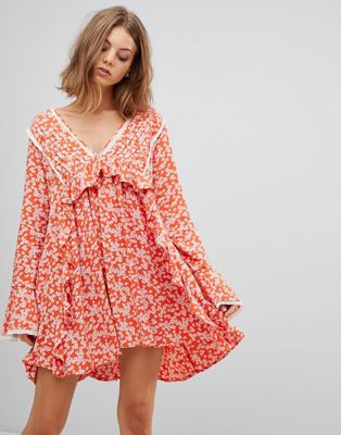 Free People Like You Best Printed Mini Dress