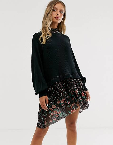 Free People opposite attract mini dress