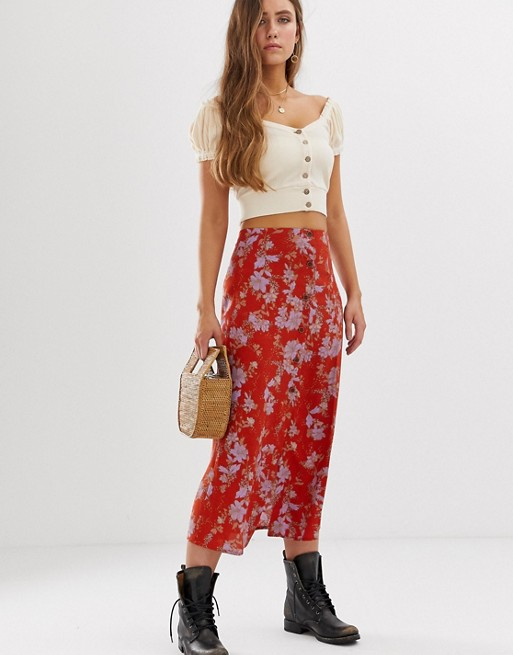 Image 1 of Free People Retro Love midi skirt