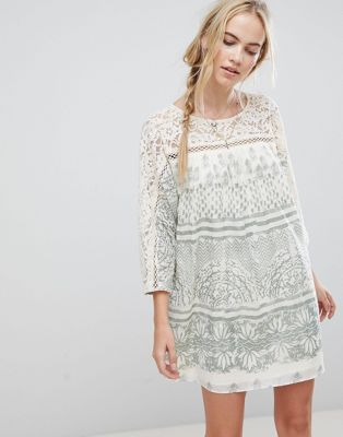 Free People Sun Daze Printed Shift Dress